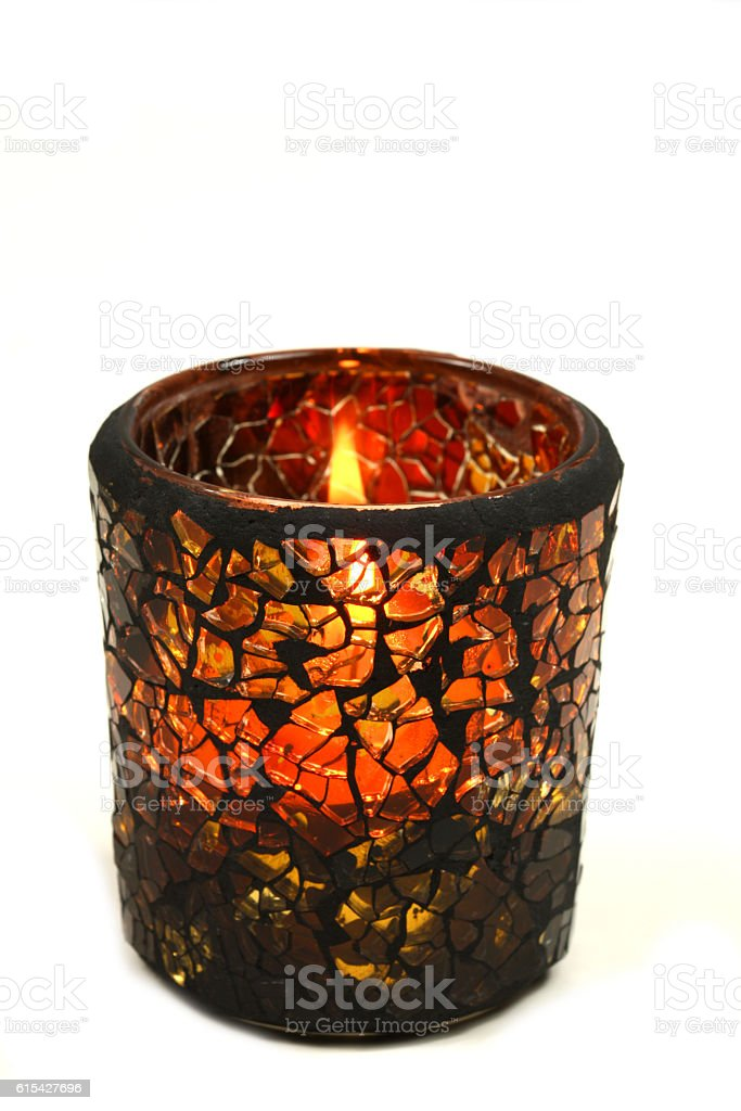 Candle holder stock photo