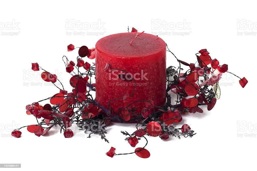 Candle, home decoration royalty-free stock photo
