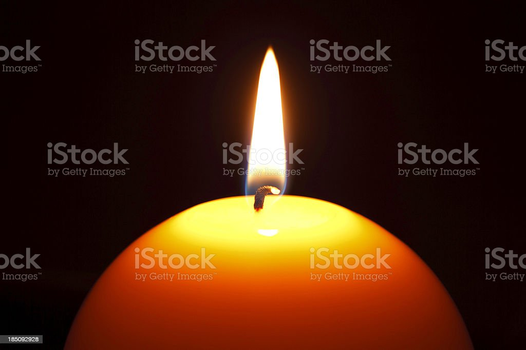 candle in blackness royalty-free stock photo