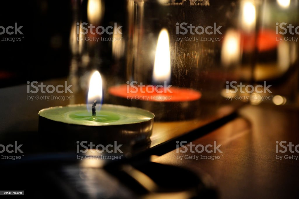 candle in dark royalty-free stock photo