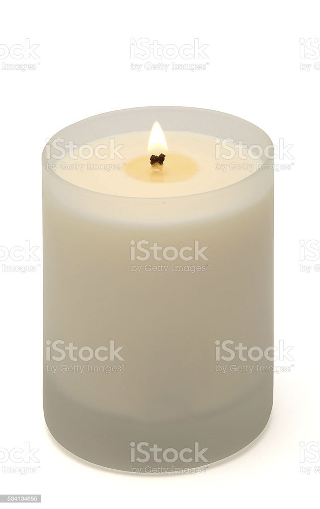 Candle in glass stock photo