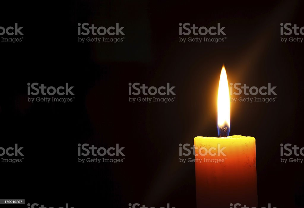 Candle in the Dark royalty-free stock photo