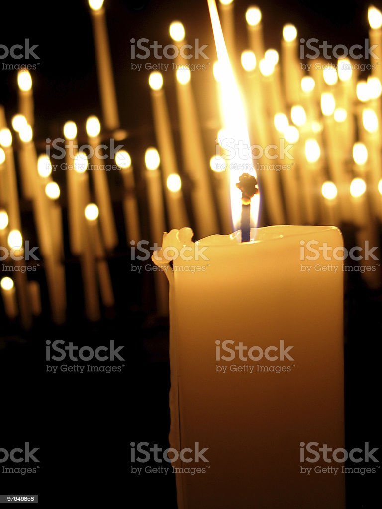 candle in the wind royalty-free stock photo