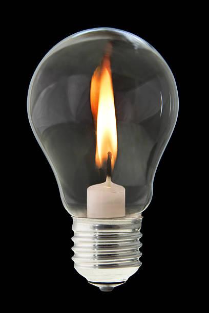 Kerze Inneren Glühbirne – Foto