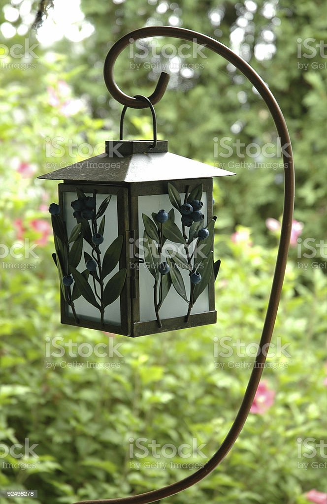 Candle Lantern in daylight royalty-free stock photo