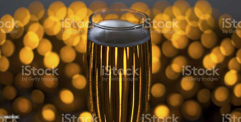 Candle Light Champagne stock photo