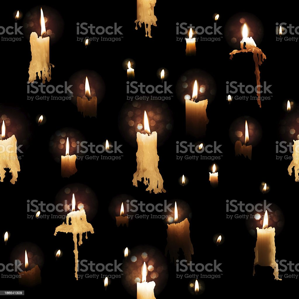 Candle Lights Pattern on Black royalty-free stock photo