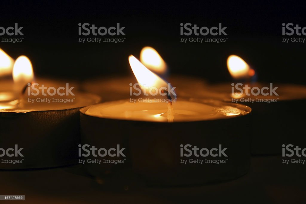 candle lights royalty-free stock photo