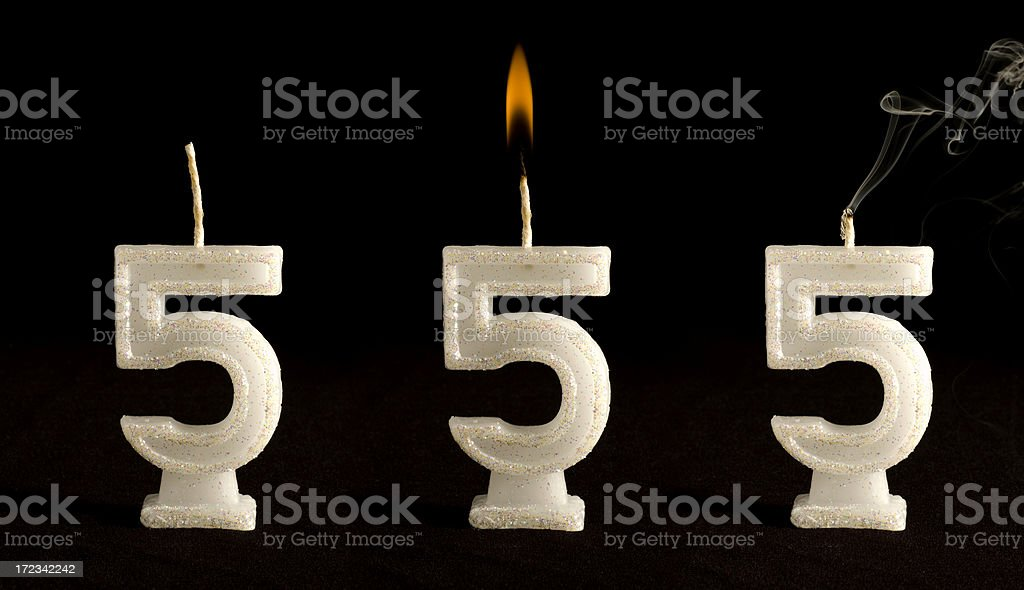 Candle Number Five royalty-free stock photo