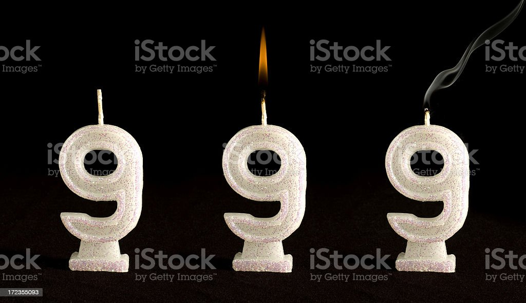 Candle Number Nine royalty-free stock photo