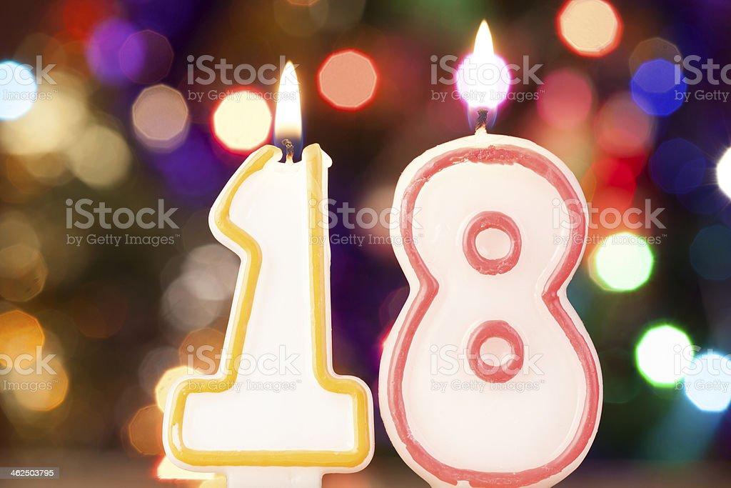 Kerze-Nummer – Foto
