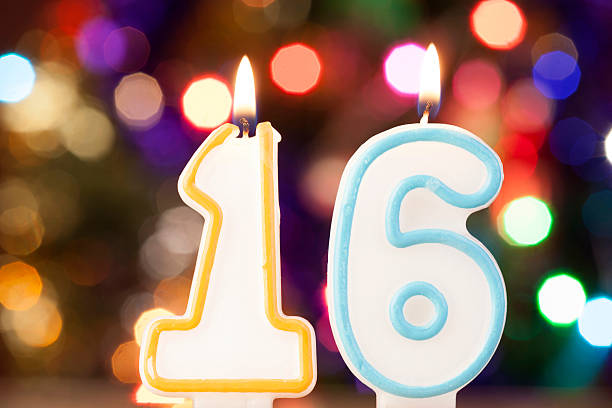 candle number - number 16 stock photos and pictures