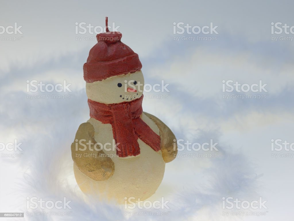 Candle of Snowman stock photo