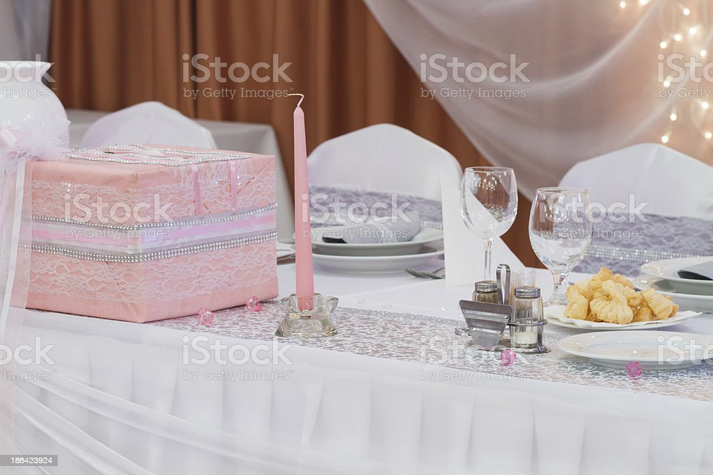 candle on wedding table royalty-free stock photo