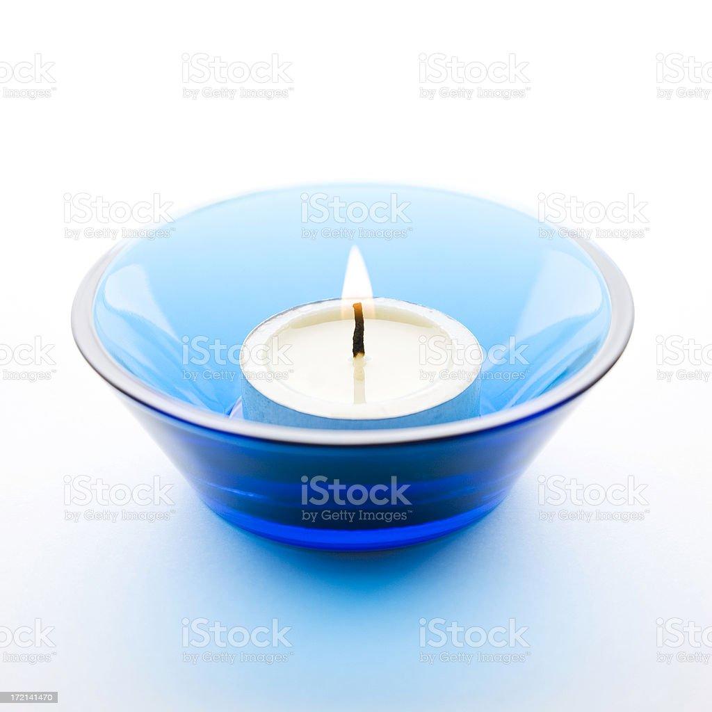 Candle on White Background royalty-free stock photo