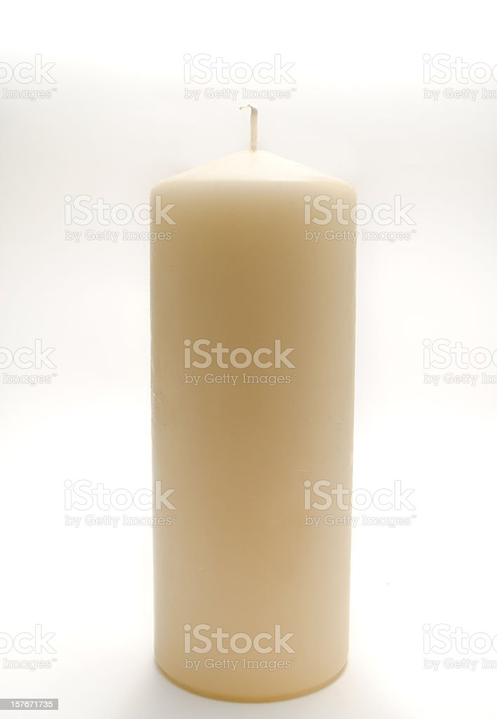 Candle On White stock photo