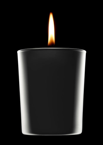 Black candle in the dark