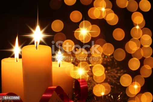 Three Candle with star shap