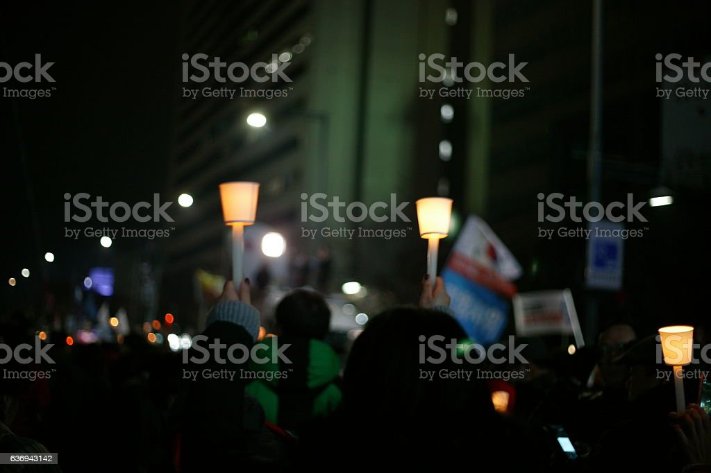 Candle rally stock photo