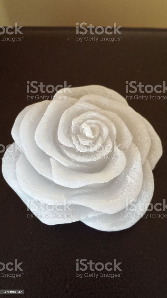 Candle rose stock photo