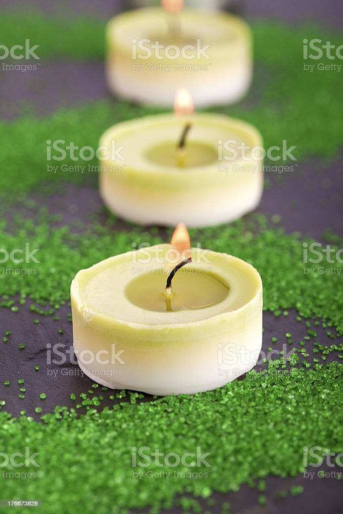 candle spa decoration royalty-free stock photo