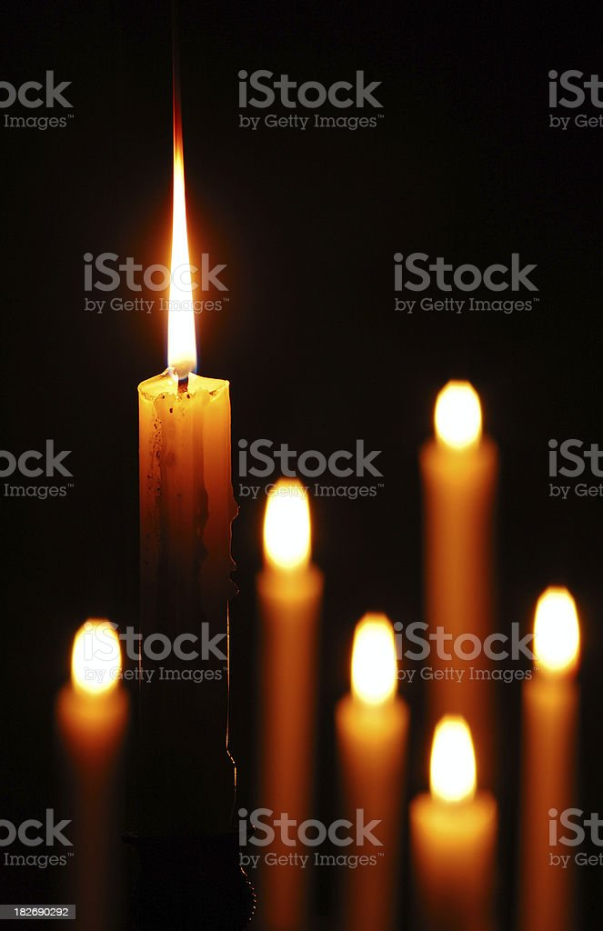 Candle Standing Out royalty-free stock photo
