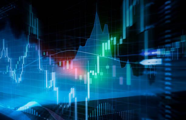 bougie bâton graphique et diagramme à barres bourse investissement. - chapiteau colonne architecturale photos et images de collection