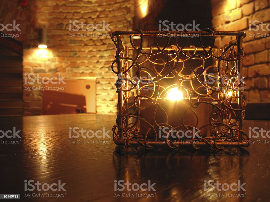 Candle underground royalty-free stock photo