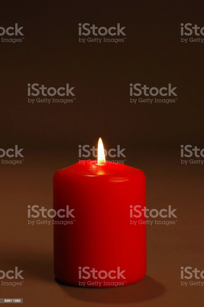 Candle with dark background royalty-free stock photo