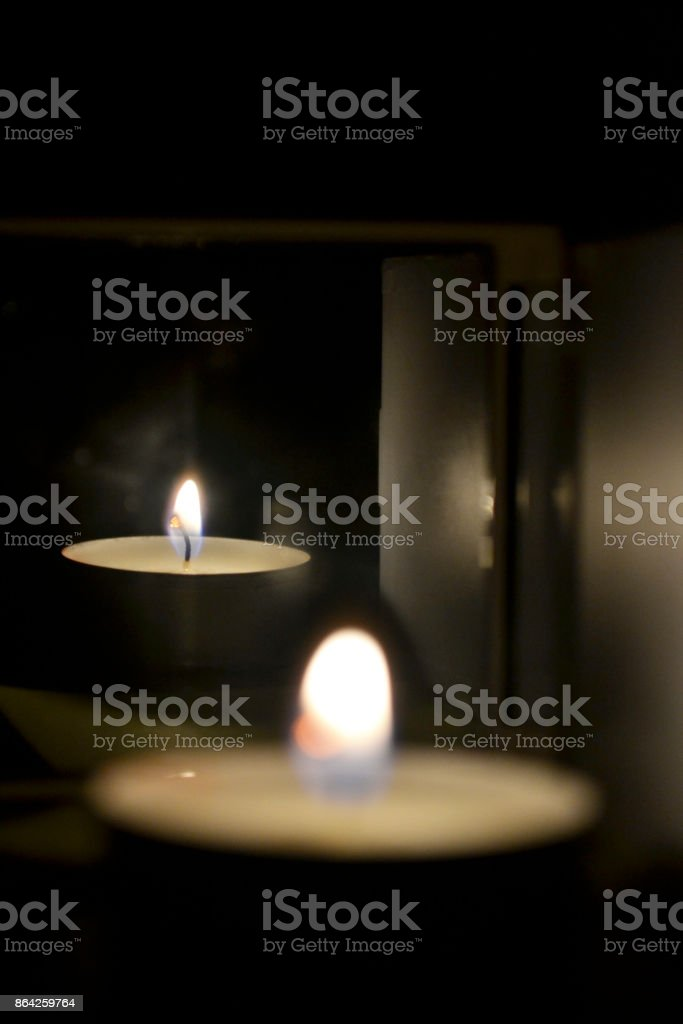 candle with mirror royalty-free stock photo