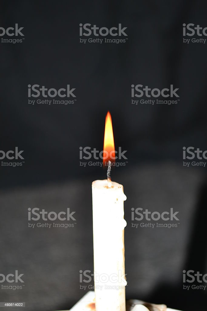 Candle with shadow stock photo