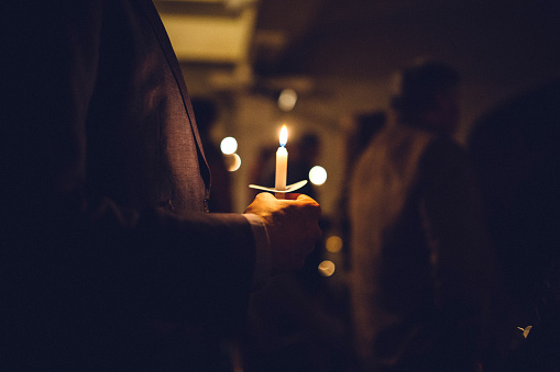 Candlelight Church Service on Christmas Eve