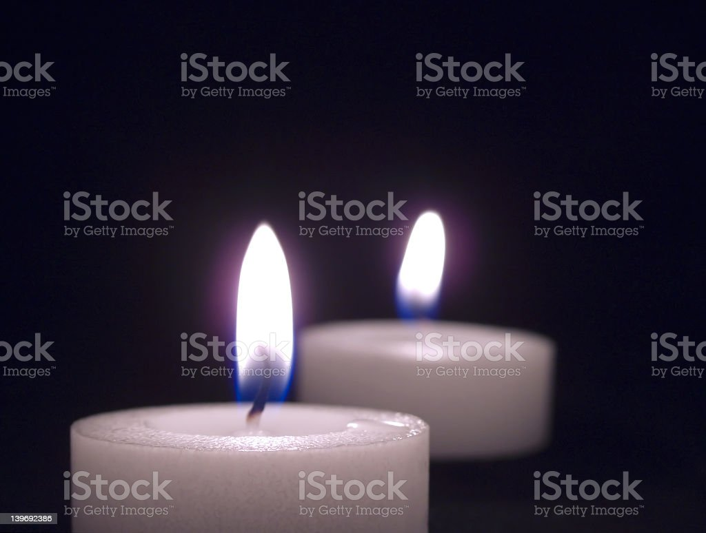 Candlelight for Two stock photo