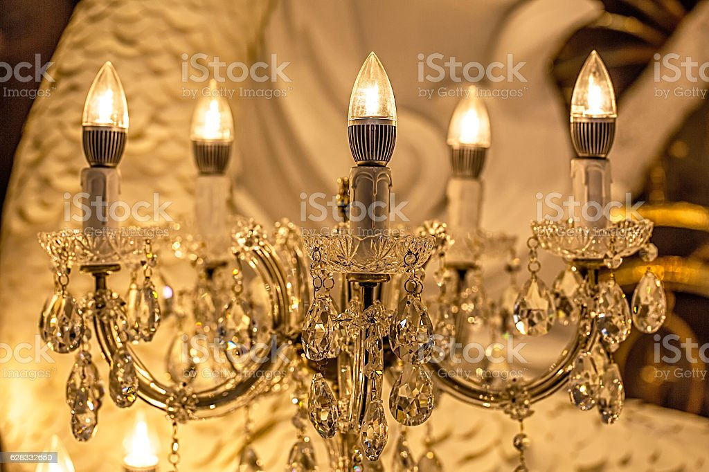 Candlelight lamp stock photo istock cable candle chandelier electric lamp glass material candlelight mozeypictures Images