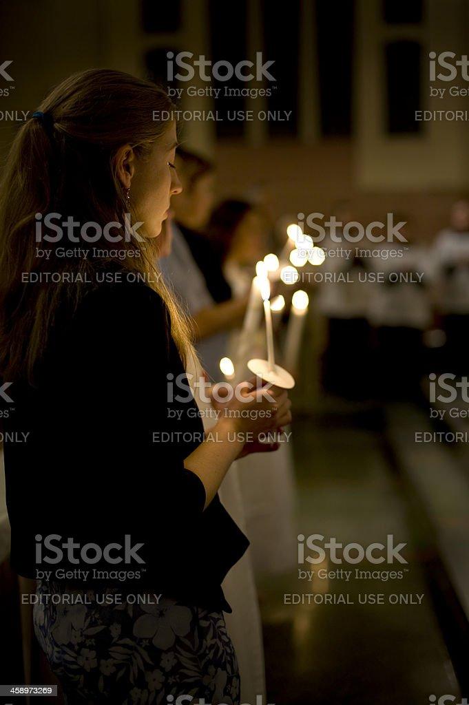 candlelight vigil royalty-free stock photo