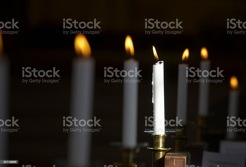 Candlelights stock photo