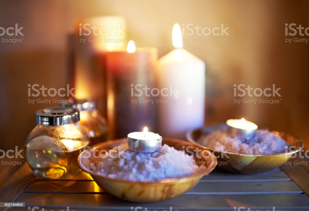 Candlelit therapy stock photo