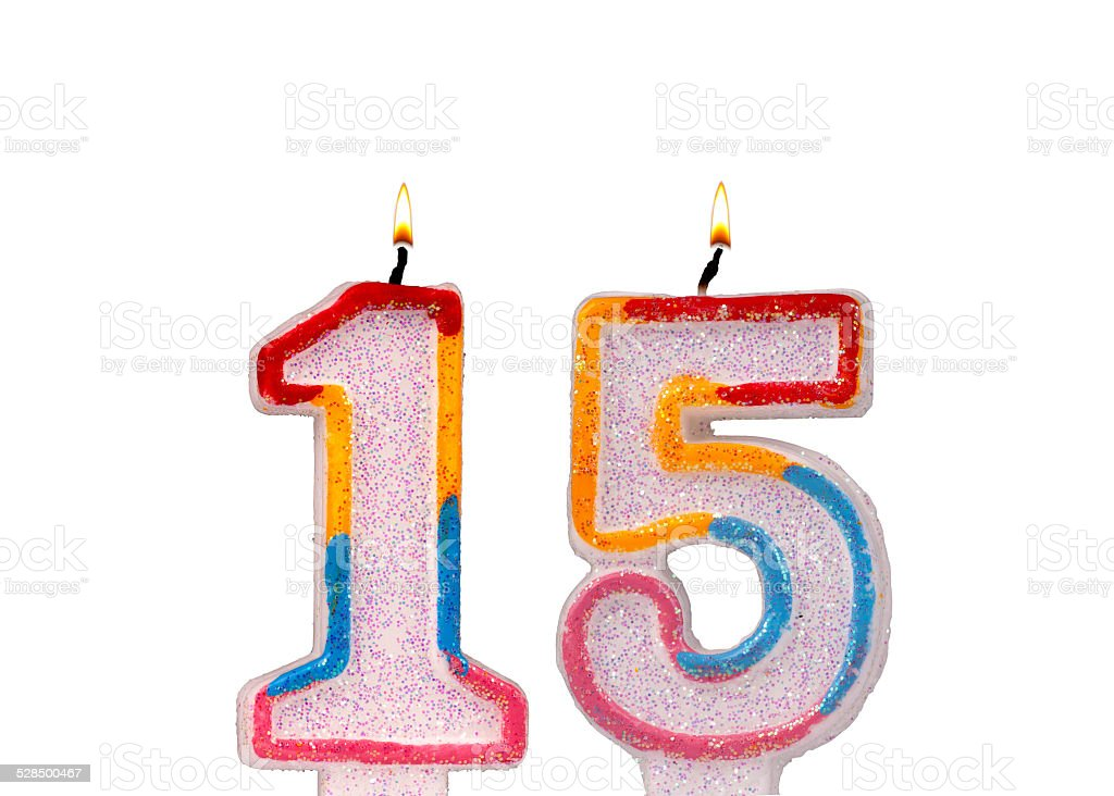 Candles 15 Numbers Royalty Free Stock Photo