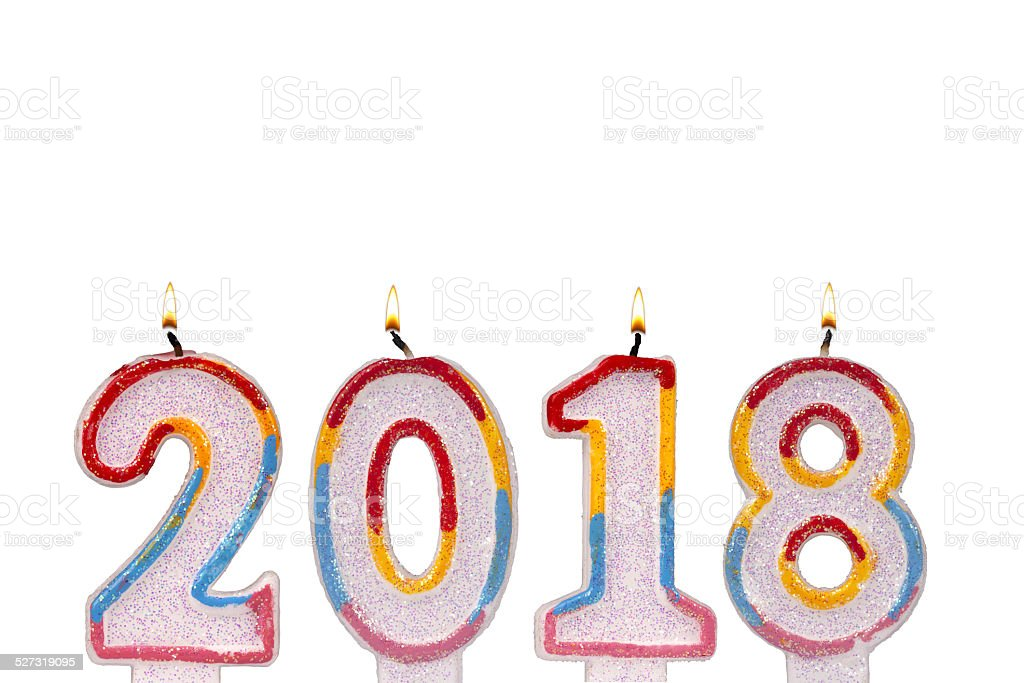 candles 2018 numbers new year royalty-free stock photo