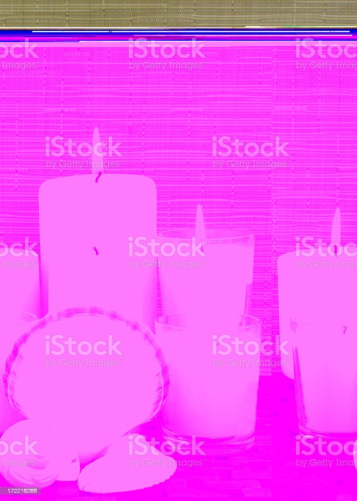 candles and shells - Royalty-free Alternative Medicine Stock Photo