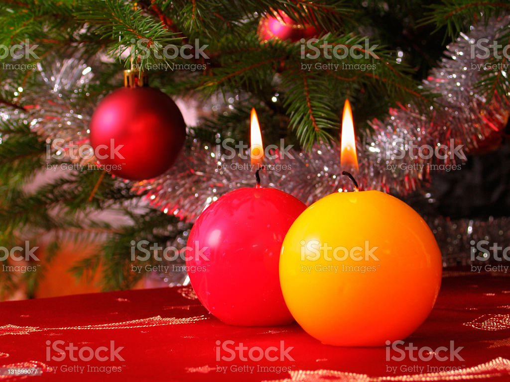 Candles - before Christmas royalty-free stock photo