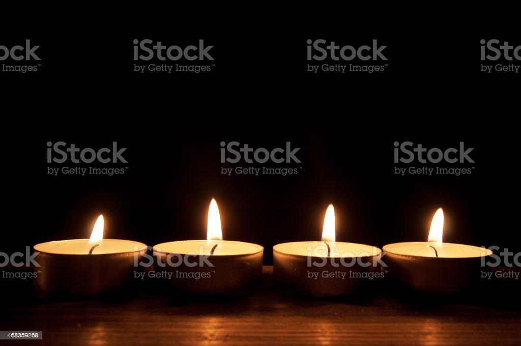 Candles border royalty-free stock photo