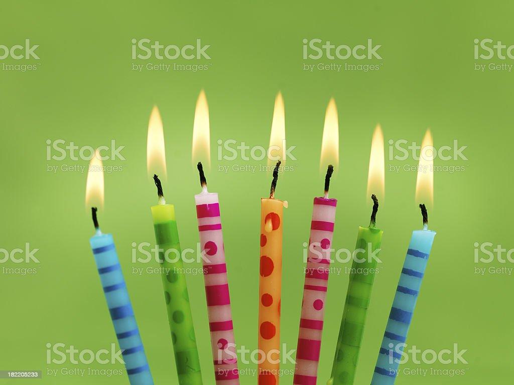 Candles burning royalty-free stock photo