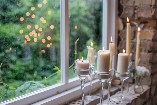 Candles for rustic wedding decoration – Foto