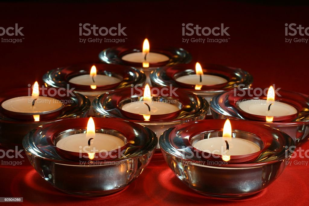 Candles For The Festive Season 2 royalty-free stock photo