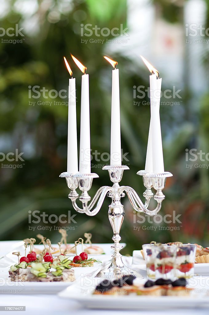 candles in candlestick royalty-free stock photo