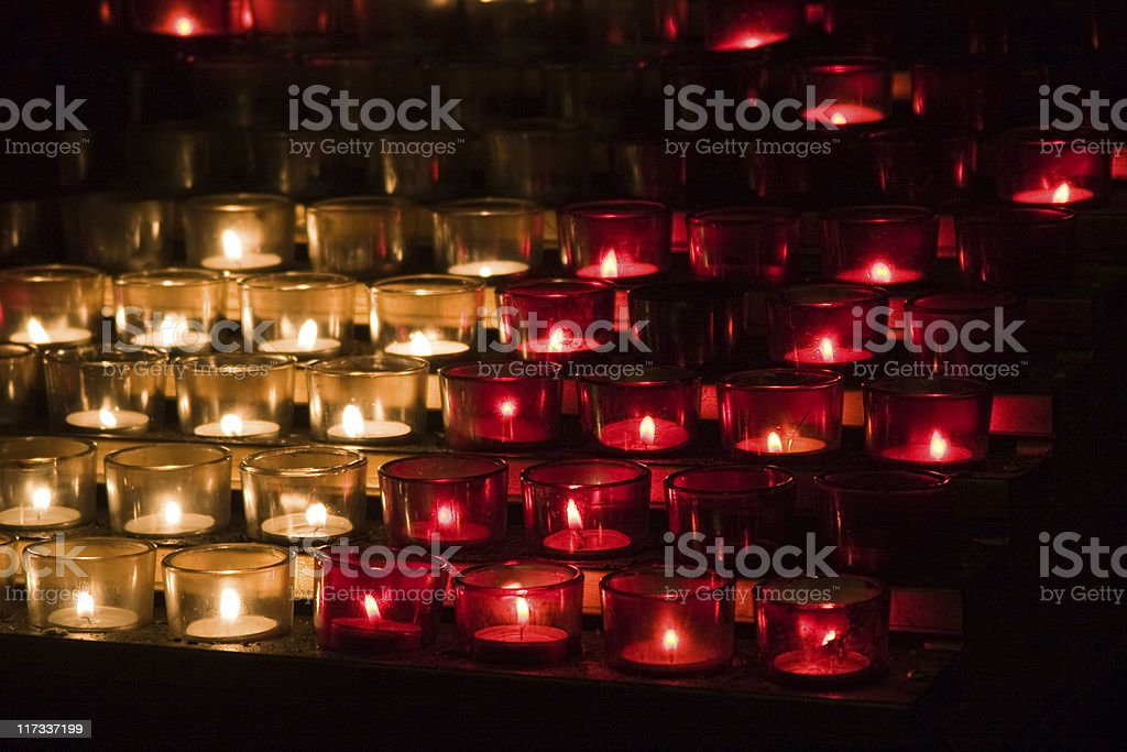 candles in cathedral royalty-free stock photo