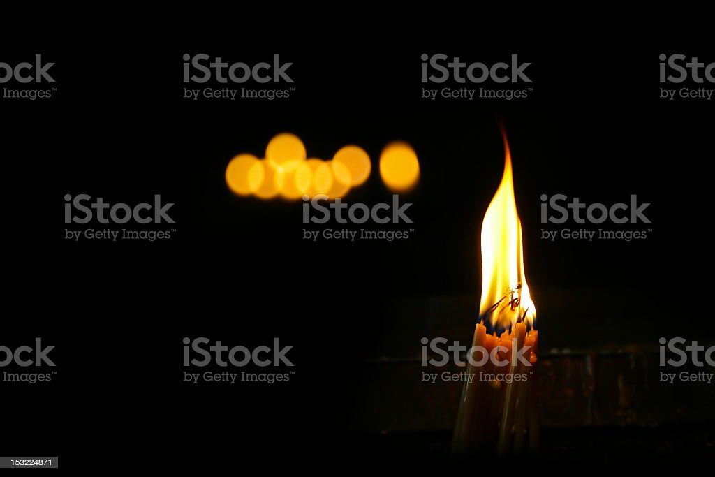 Candles in dark stock photo
