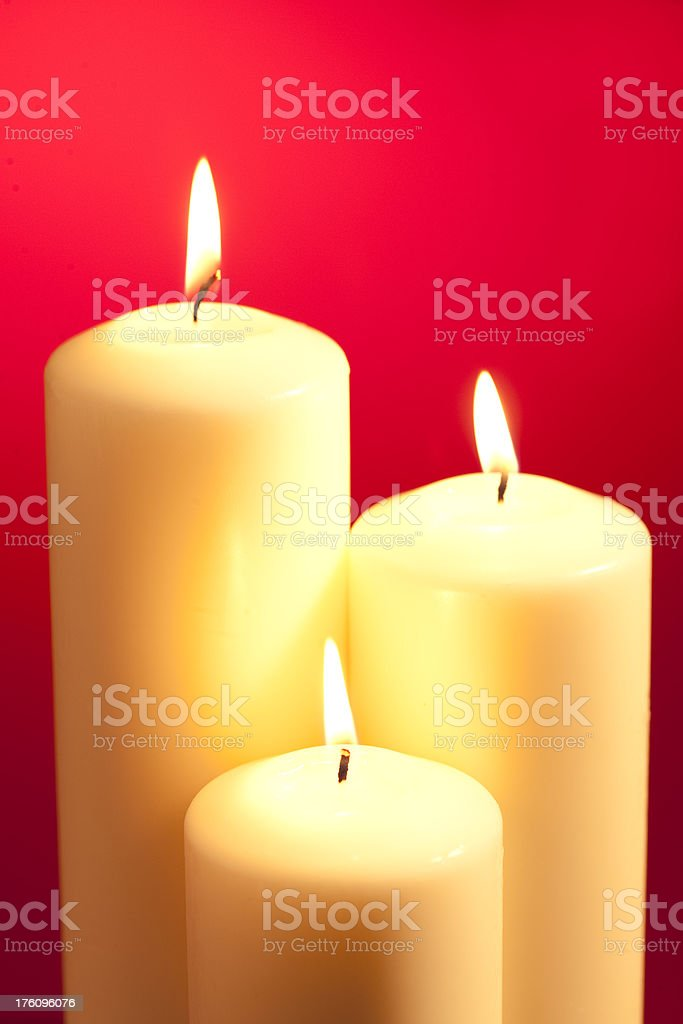 Candles in Red royalty-free stock photo