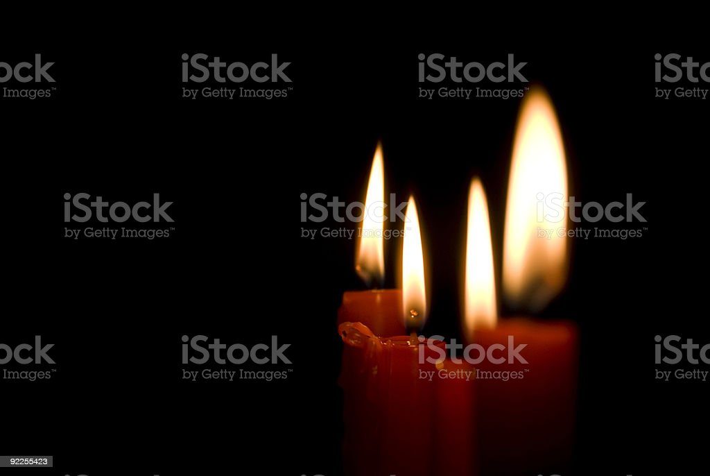 Candles in the dark royalty-free stock photo